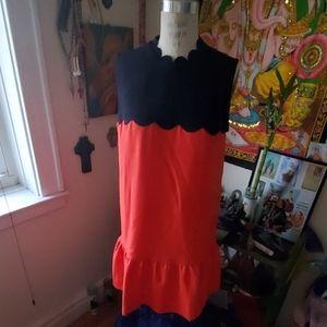 Victoria Beckham scalloped detail dress.